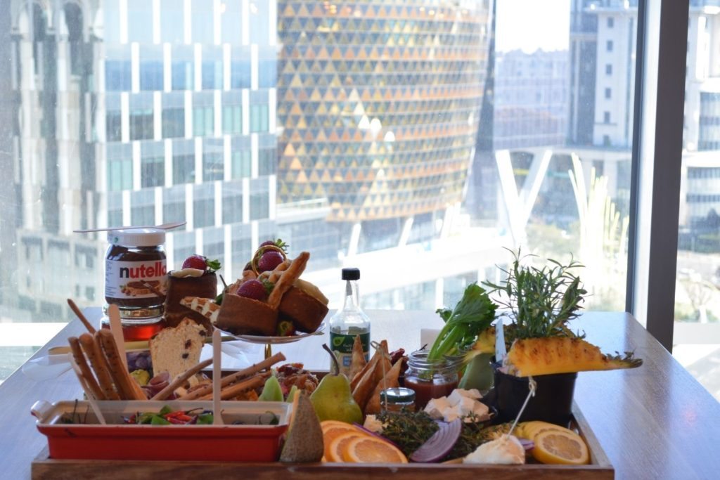 Breakfast Charcuterie Board with a view of The Marc