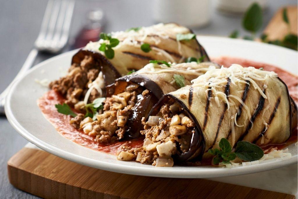 Mushroom Moussaka and Brinjal Canneloni