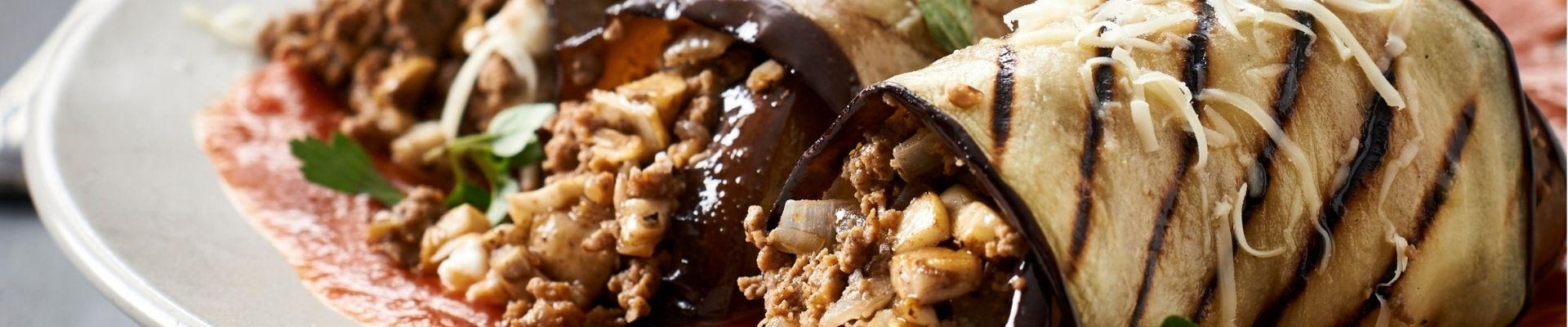 Mushroom and brinjal canneloni recipe